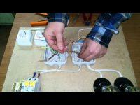 Соединение проводки в распредкоробке