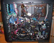 Укладка проводов в системном блоке