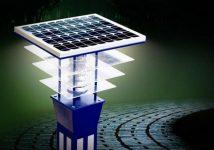 Уличное освещение на солнечных батареях для дачи