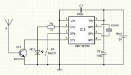 Искатель скрытой проводки на микроконтроллере