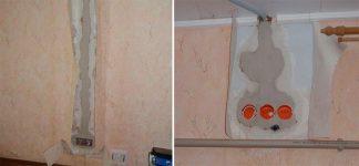 Чем замазать проводку в стене