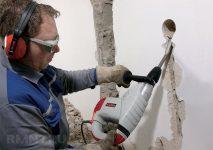 Как штробить стены под проводку без пыли