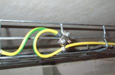 Заземление кабельных лотков пуэ