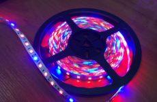 Освещение рассады светодиодными лентами