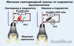 Почему мерцает светодиодная лампа во время работы