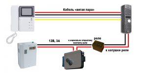 Каким кабелем подключить видеодомофон