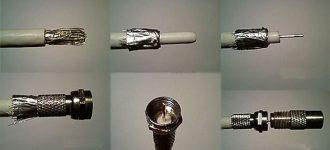Как правильно присоединить штекер к антенному кабелю