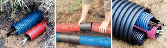 Трубы ДКС для прокладки кабеля в земле