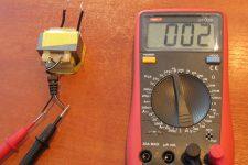 Как узнать мощность трансформатора мультиметром