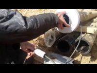 Как просунуть кабель в трубу ПНД