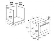 Духовой шкаф электрический встраиваемый размеры ниши