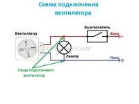 Как подключить вытяжной вентилятор к выключателю