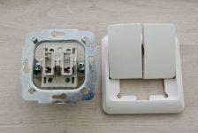 Устройство двухклавишного выключателя света